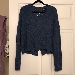 Express Sweaters - Express cropped sweater with detailed back